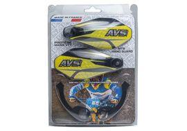 AVS Protège mains avec pattes aluminium - Noir / Jaune
