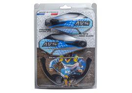AVS Protège mains avec pattes aluminium - Noir / Bleu