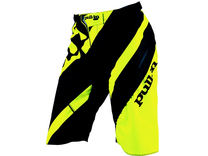 Pull-In Short DH Stripe Jaune Fluo 2016