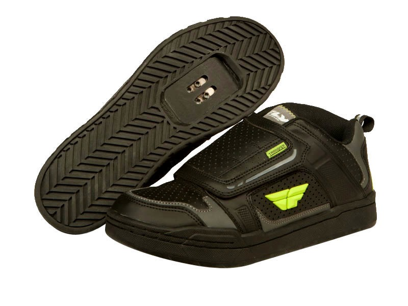 Fly racing Chaussures Transfer Noir / Jaune Fluo 2016