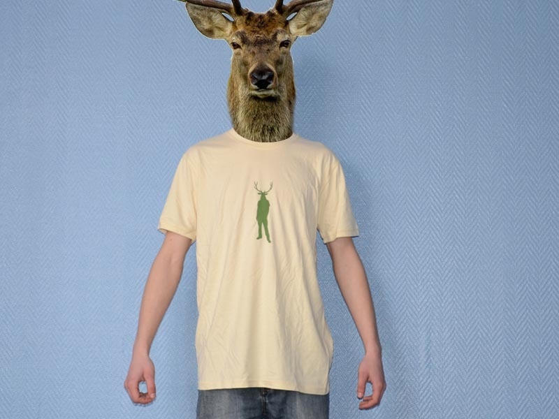 Pure Gear T-shirt Cerf'Your'Style Crème