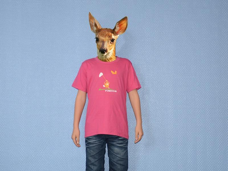 Pure Gear T-shirt Chasse au Papillon Rose