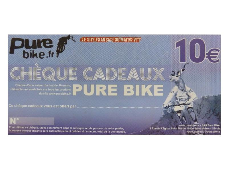 purebike ch que cadeau 10 ch ques cadeaux purebike pi ces mat riel et accessoires vtt. Black Bedroom Furniture Sets. Home Design Ideas