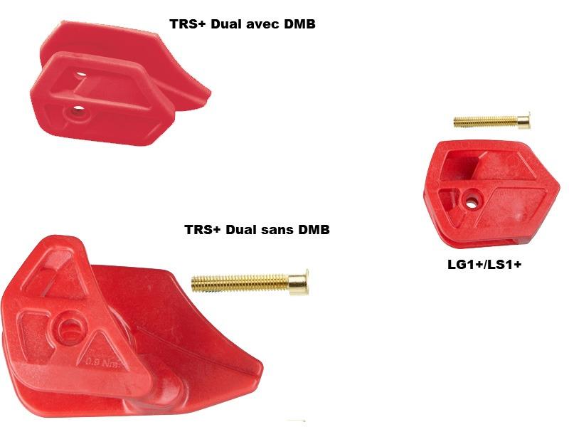 E Thirteen Plaques d'usure inférieures pour guide chaine Rouge