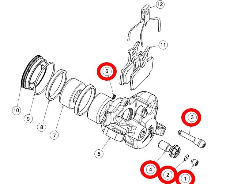 formula kit visserie pour  u00e9trier r1 2012 - pi u00e8ces d u00e9tach u00e9es - accessoires vtt