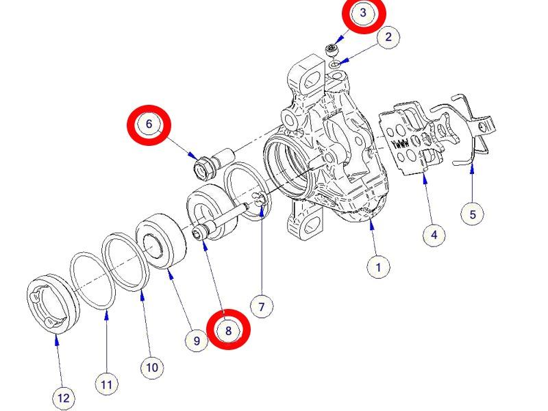 formula kit visserie pour  u00e9trier rx - pi u00e8ces d u00e9tach u00e9es - accessoires velo et vtt