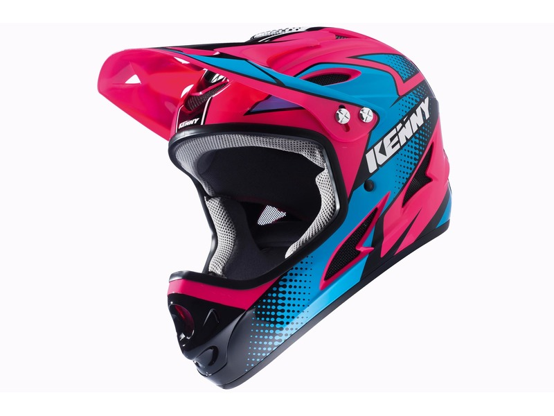casque kenny down hill rose fluo casques int graux. Black Bedroom Furniture Sets. Home Design Ideas