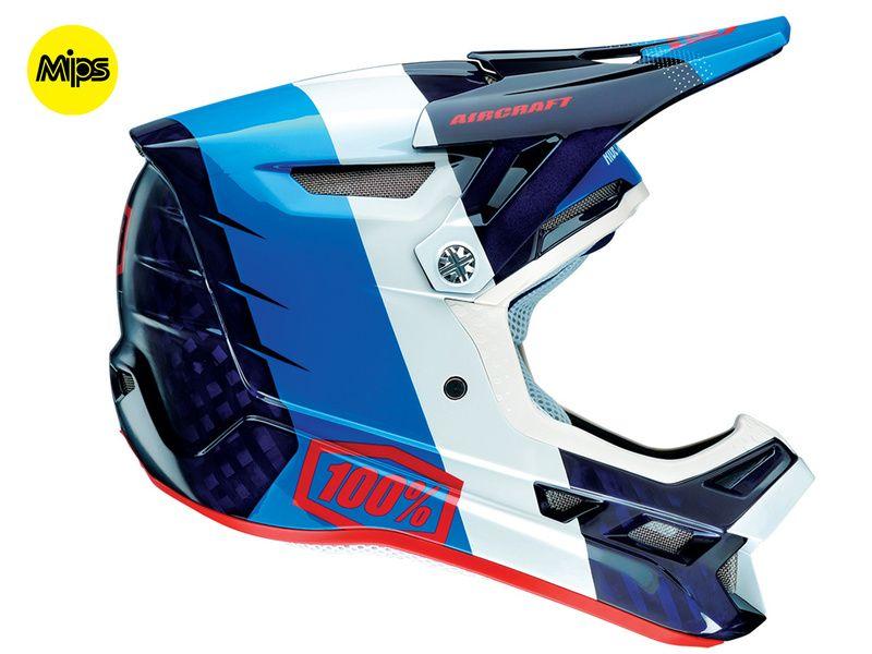 casque 100 aircraft mips r8 bleu casques int graux purebike. Black Bedroom Furniture Sets. Home Design Ideas