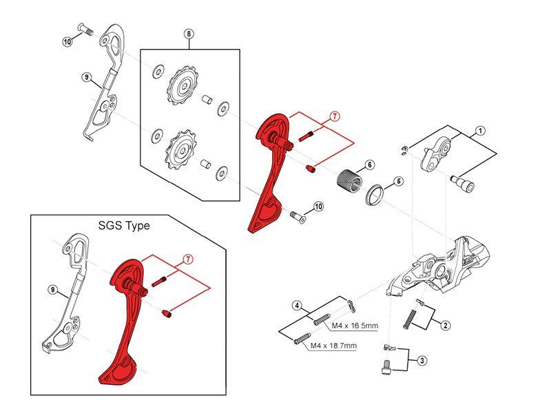 Shimano Chape Externe pour Dérailleur XT M780