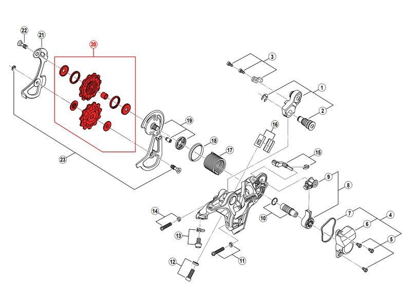Shimano Galets de dérailleur 10 vitesses pour Saint M820