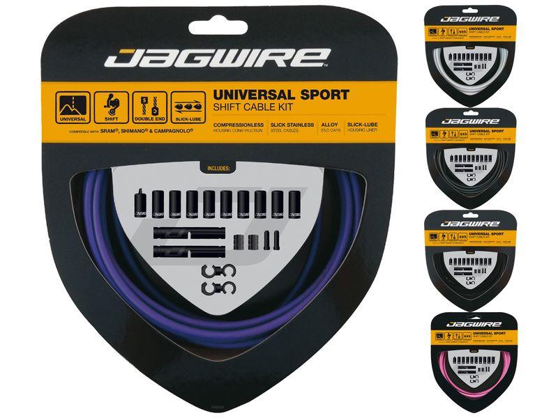 Jagwire Kit cables et gaines de dérailleur Universal Sport