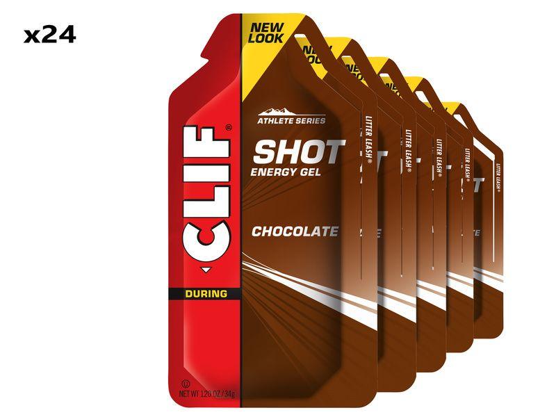 Clif Bar Boite de 24 gels énergétiques goût chocolat