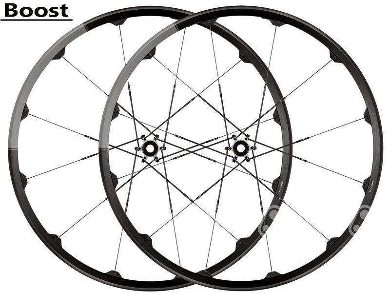 Crank Brothers Paire de roues Iodine 2 Noir et Gris 27,5'' - Boost 2020