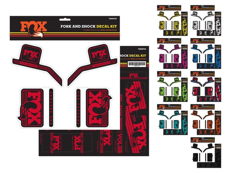 Fox Racing Shox Autocollants pour fourche et amortisseur Fox Heritage