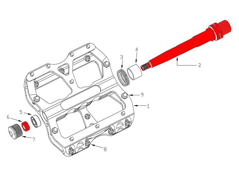 Reverse Components Kit axes pour pédales Escape