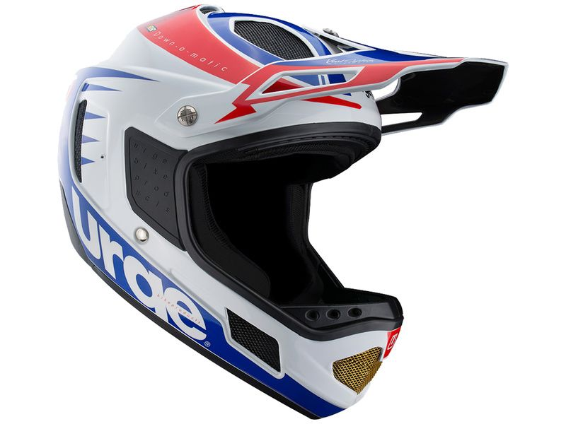 Urge Casque Down-o-matic RR Blanc-Rouge-Bleu 2020