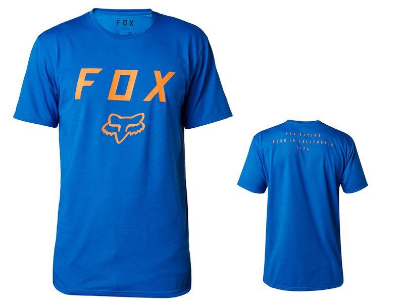 Fox Tee Shirt Tech Contended Manches Courtes Bleu 2018