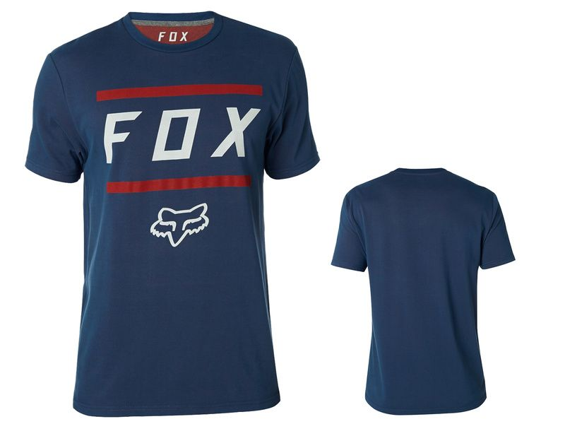 Fox Tee Shirt Listless Airline manches courtes – Bleu et Rouge 2018