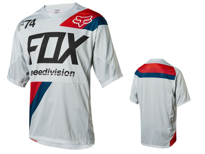 Fox Maillot Demo Drafter manches courtes – Blanc 2018