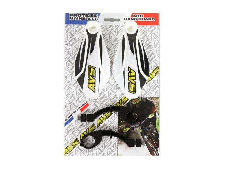 AVS Protège mains avec pattes aluminium - Blanc / Noir 2019