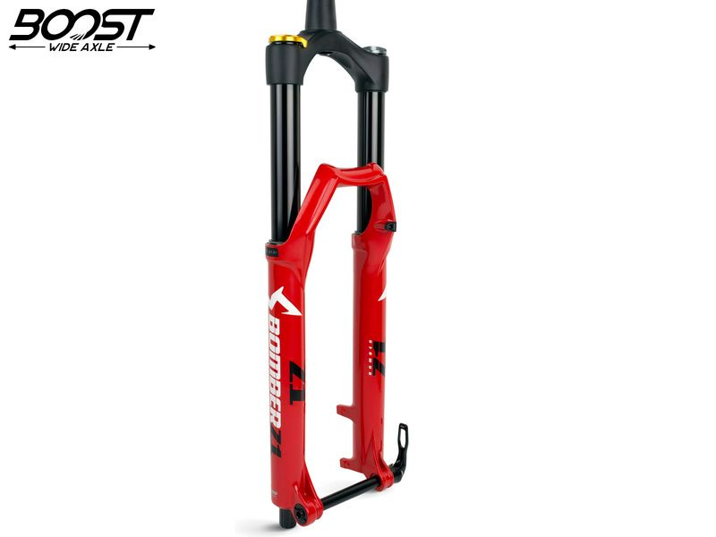 "Marzocchi Fourche Bomber Z1 27,5"" Grip Sweep Adjust 180 mm - 15x110 Boost - Rouge 2020"