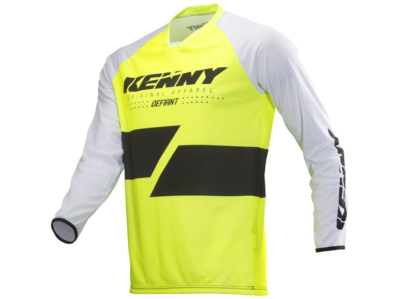 Kenny Maillot Defiant Jaune Fluo 2019