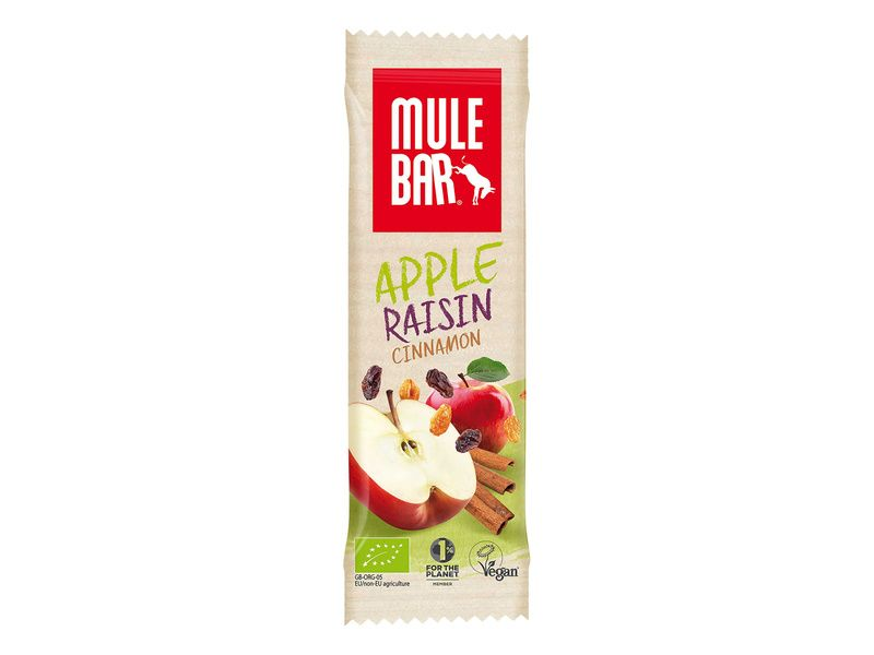 Mulebar Barre énergétique Pomme, Cannelle, Raisin
