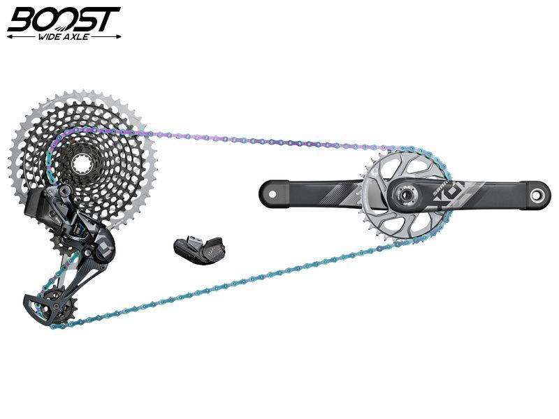Sram Groupe X01 Eagle AXS 1x12v avec pédalier DUB Boost 32T 2021