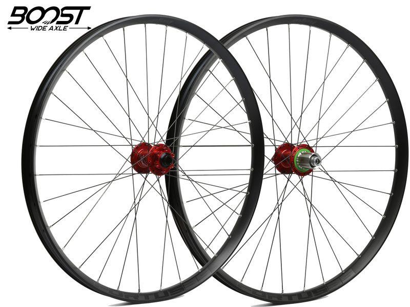 Hope Paire de roues Fortus 35 Rouge 27,5'' Boost 2020
