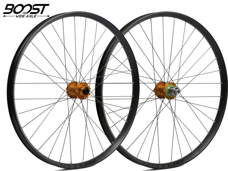 Hope Paire de roues Fortus 35 Orange 27,5'' Boost 2020
