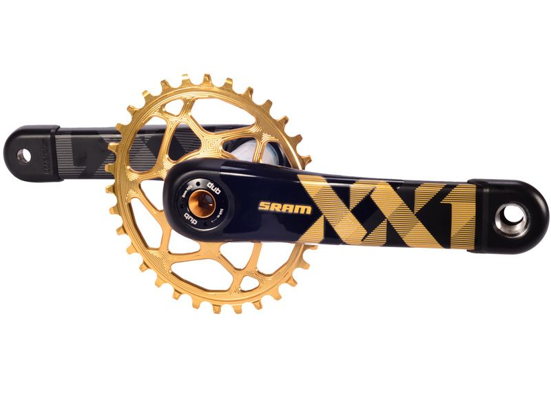 Sram Pédalier XX1 Eagle DUB Boost Or avec plateau ovale Absolute Black 2019