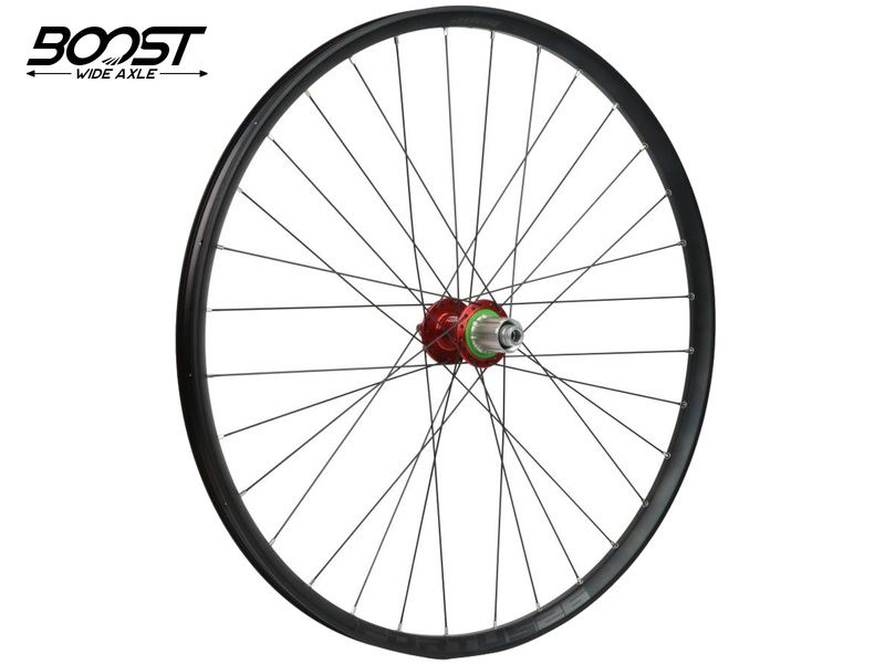 Hope Roue arrière Fortus 26 Rouge 27,5'' Boost 148 mm 2020