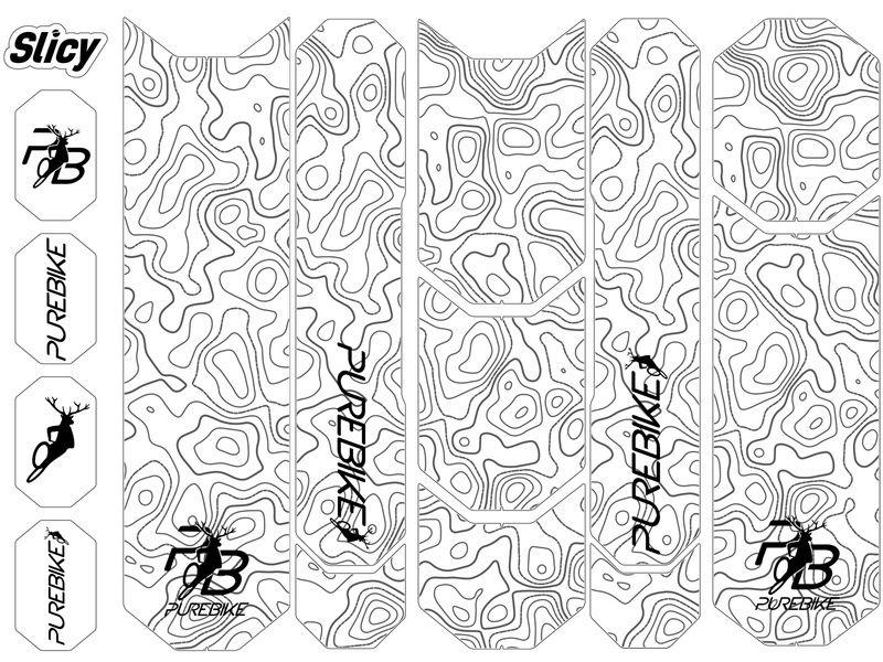 Slicy Kit de protections Sublimistick PureBike (12 patchs)