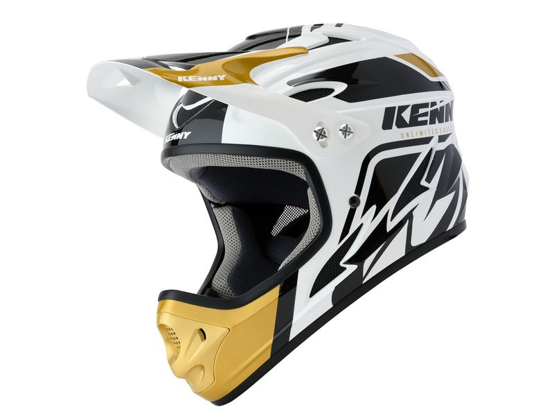 Kenny Casque Down Hill Blanc et Or 2020