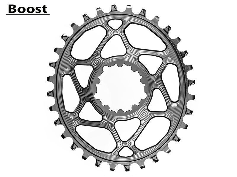Absolute Black Plateau Oval Sram Direct Mount Boost Gris 2020