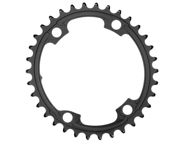 Absolute Black Plateau Ovale Premium - 4 trous 110 mm (Shimano asymétrique) - Noir 2020