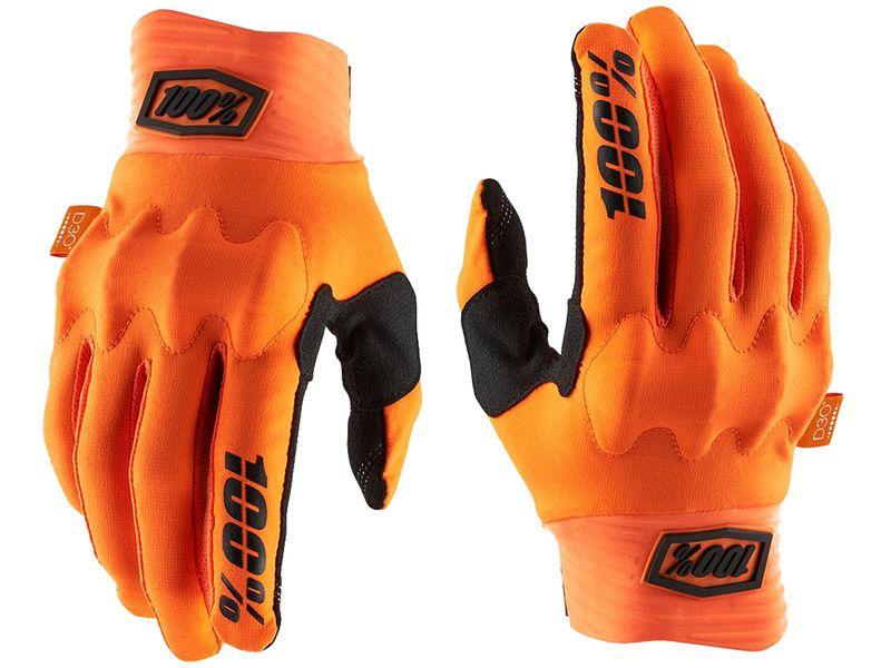 100% Gants Cognito D3O Orange/Black 2020