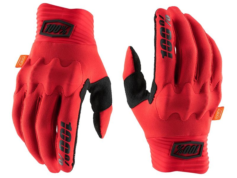 100% Gants Cognito D3O Red/Black 2020