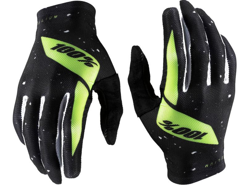 100% Gants Celium Black/Fluo Yellow 2020