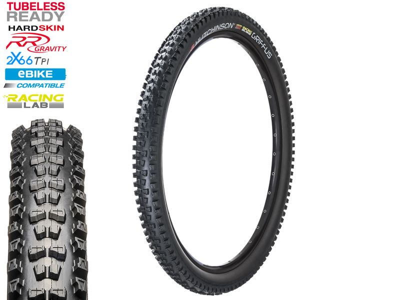 Hutchinson Pneu Griffus Racing Lab EBIKE Tubeless Ready 2x66 TPI 27.5'' Noir 2020