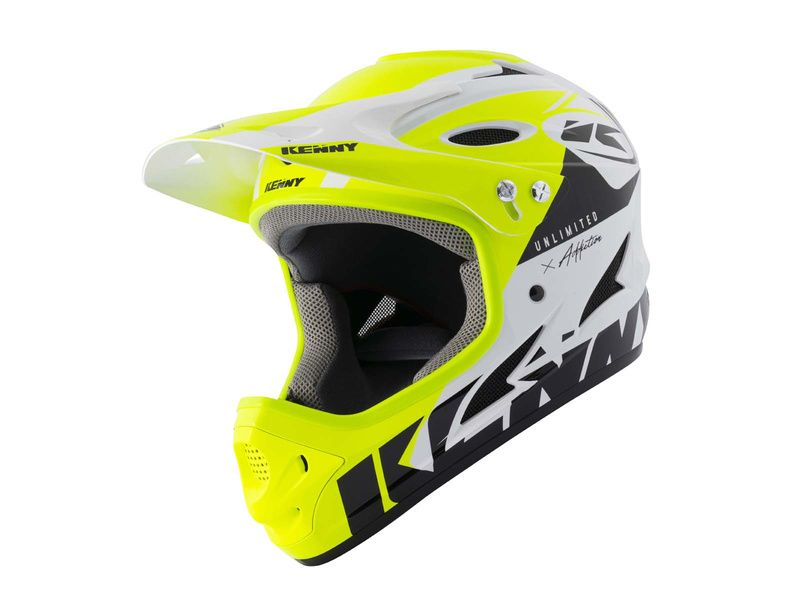 Kenny Casque Down hill Graphic White Neon Yellow 2021