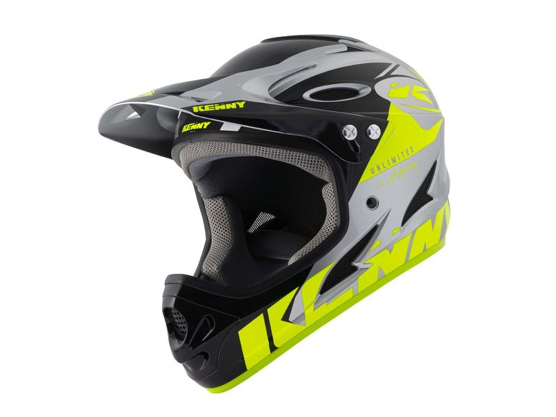 Kenny Casque Down hill Graphic Neon Yellow Silver 2021