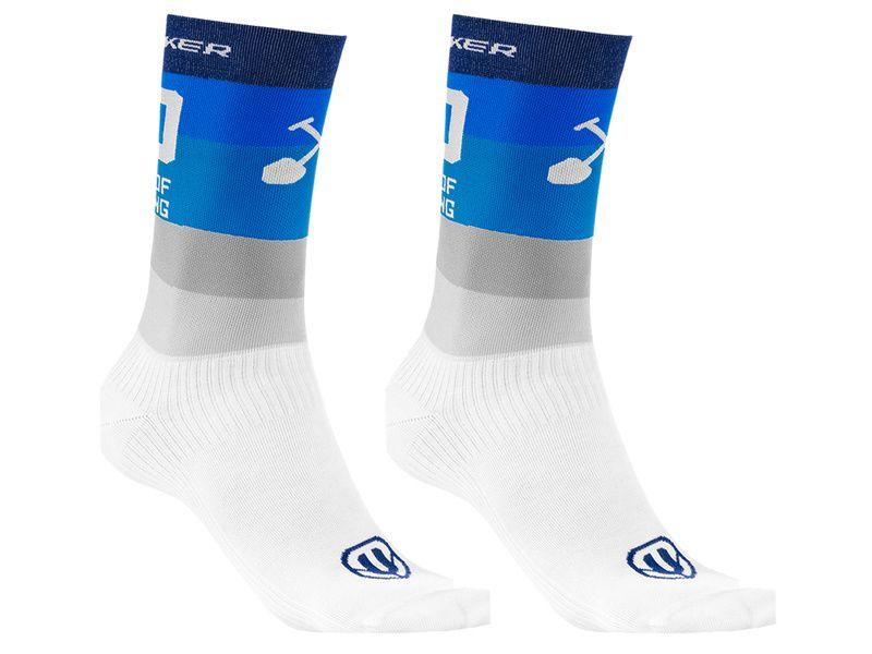 Mondraker Chaussettes Hautes Racing Bleu Gris 2021