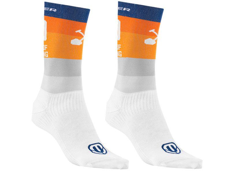Mondraker Chaussettes Hautes Racing Orange Gris 2021
